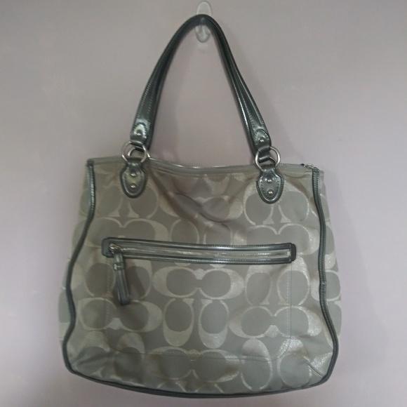 Coach Handbags - Silver Coach Print Purse